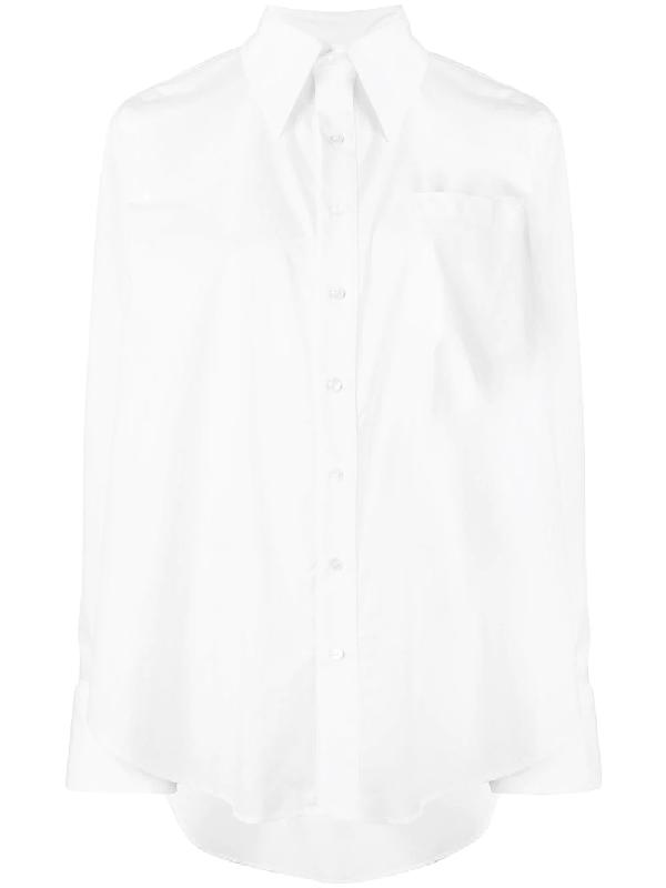 47c89928102024 Matthew Adams Dolan Oversized Fit Poplin Shirt - White