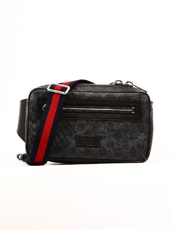 b6301b409dc Gucci Gg Supreme Web Motif Belt Bag In Black
