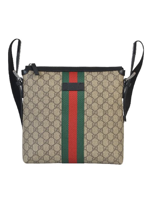 55c377ac54a Gucci Web Gg Supreme Bag In Beige