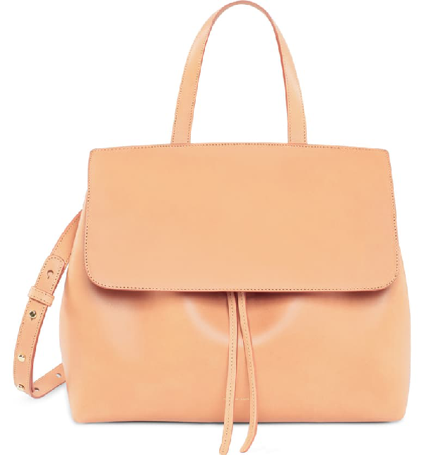 Mansur Gavriel Vegetable-Tanned Leather Lady Bag In Cammello/ Rosa