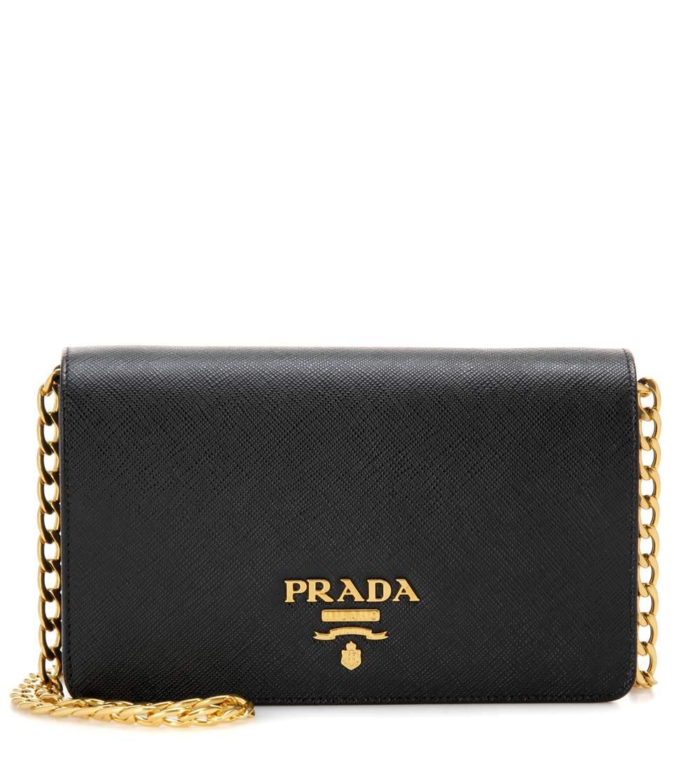 3c8ee2a3ee150 Prada Saffiano Leather Shoulder Bag In Black