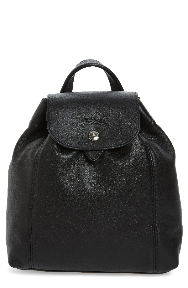 67bec9f688ae Longchamp Extra Small Le Pliage Cuir Backpack - Black