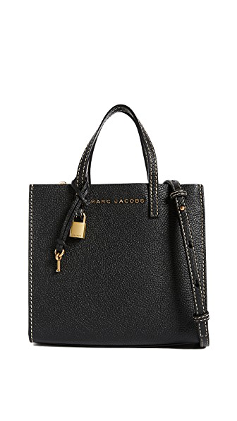 Marc Jacobs Mini Grind Tote In Black/Gold