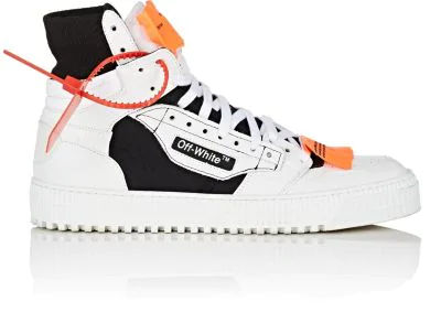 Off-White 3.0 Off-Court Leather, Canvas And Shell High-Top Sneakers In White