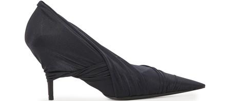 Balenciaga 110Mm Knife Draped Stretch Jersey Pumps In Black