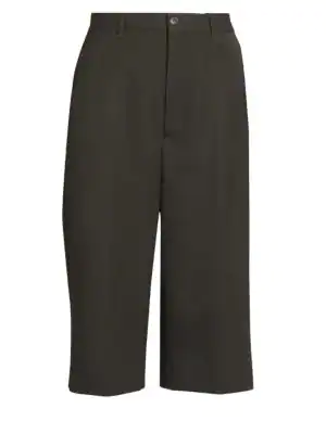 Balenciaga Wool Culottes In Black