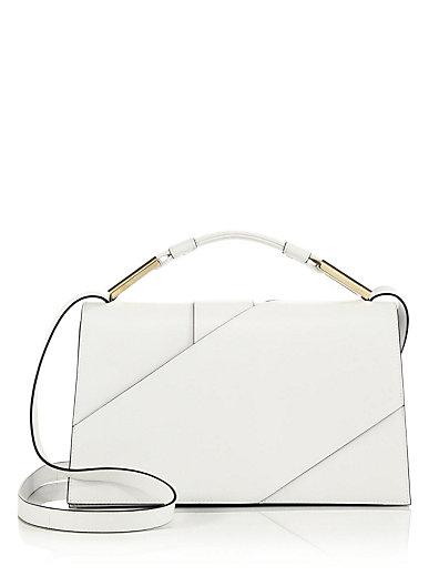 Jason Wu Charlotte Origami Leather Evening Clutch Bag, White