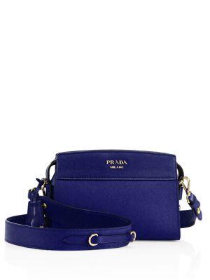 1ca3c5f9c602c2 Prada Esplanade Leather Crossbody Bag In Bluette | ModeSens