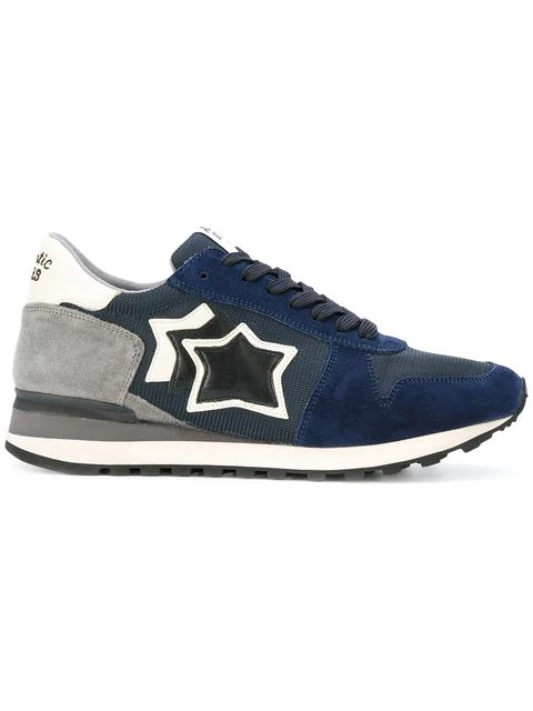 Atlantic Stars Argo Suede Leather And Mesh Sneaker In Blue