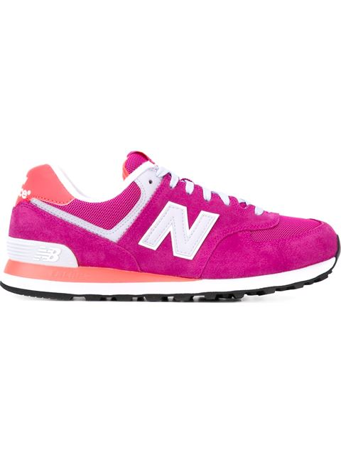 New Balance 574 Suede & Mesh Sneakers In Pink