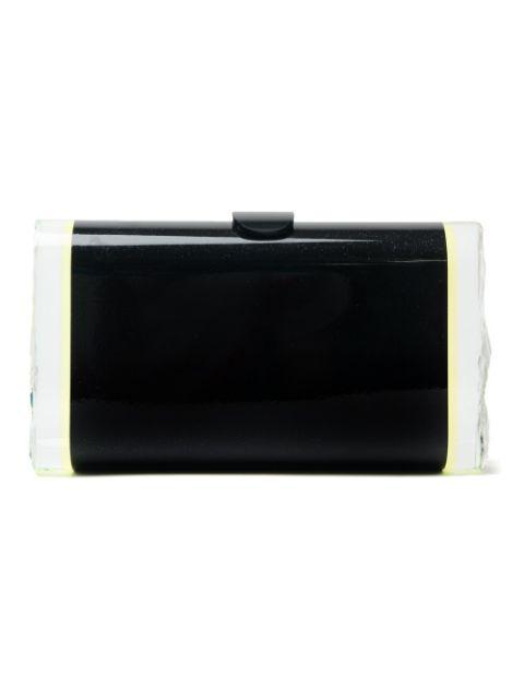 Edie Parker Lara Backlit Ice Clutch Bag, Obsidian Multi