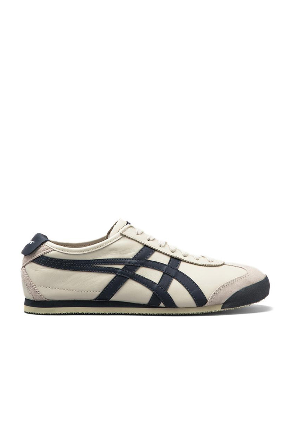 new concept 803a3 04941 Mexico 66 Leather Sneakers in Birch & Indian Ink & Latte