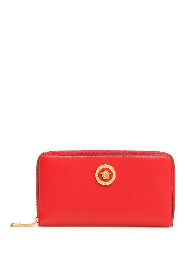 d3c049724d Versace Zip-Around Wallet In Rosso Nero Oro Tribute Rosso   ModeSens