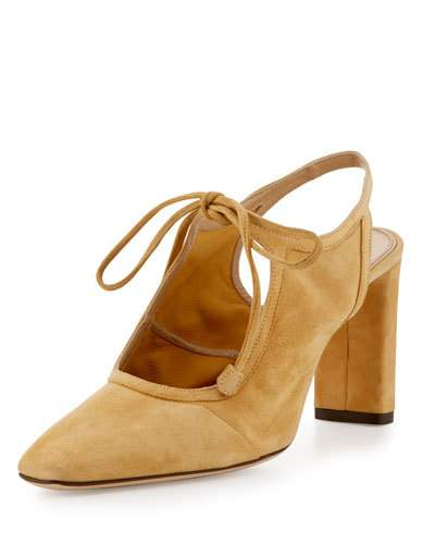 5d4c4f49be The Row Camil Suede Slingback Pumps In Light Tan | ModeSens