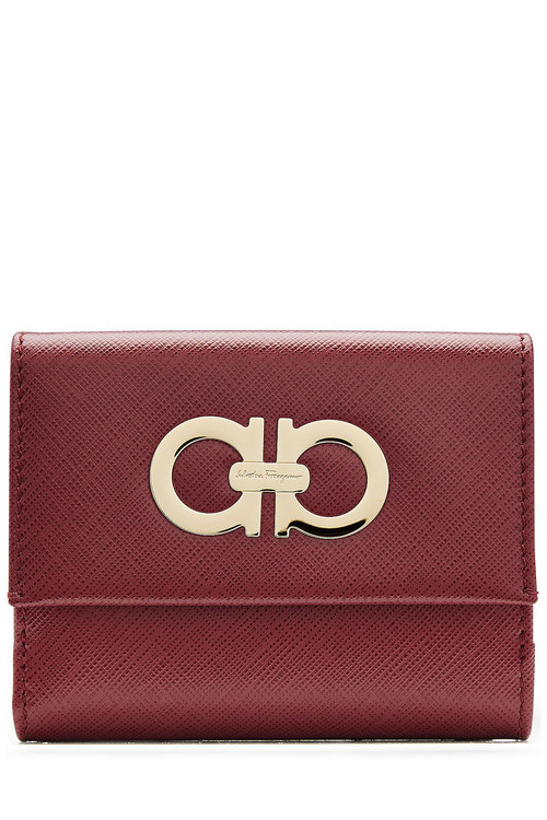Salvatore Ferragamo Leather Wallet In Red