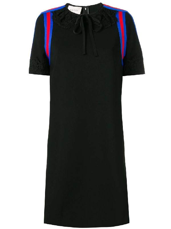 caffbb9b7 Gucci Stretch Viscose Jersey Dress With Lace In Black | ModeSens