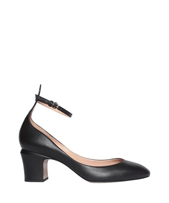 Valentino Tan-Go Patent Leather Pumps In Black