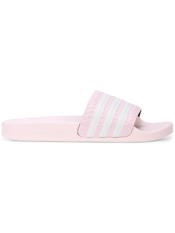6a5bd943e51f Adidas Originals Adilette Textured-Rubber Slides In Pink