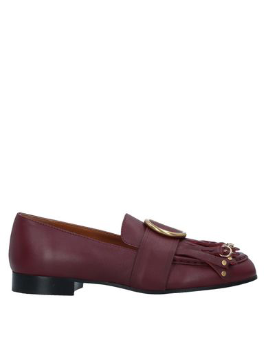 ChloÉ Loafers In Maroon