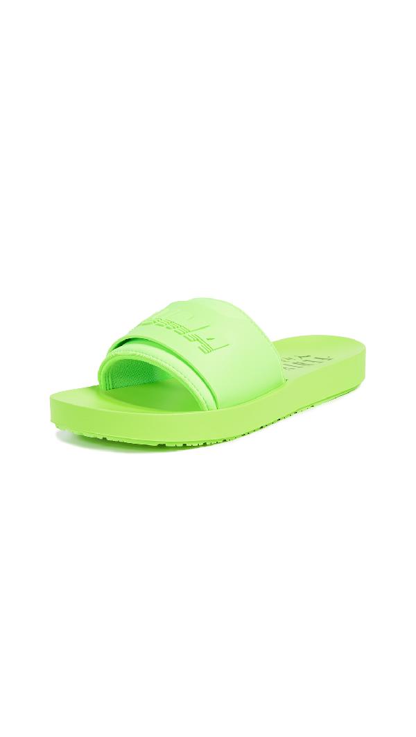 a9bf2895e4ea2 Women's Fenty X Rihanna Surf Slide Sandals, Green in Green Gecko/Green Gecko