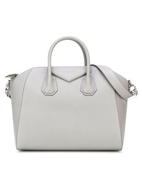 Givenchy 'Small Antigona' Sugar Leather Satchel - Grey In 051 Pe Grey