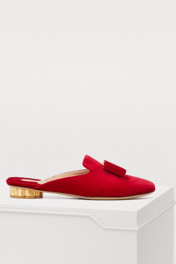 2fd9810aa Salvatore Ferragamo Sciacca Mules In Red | ModeSens