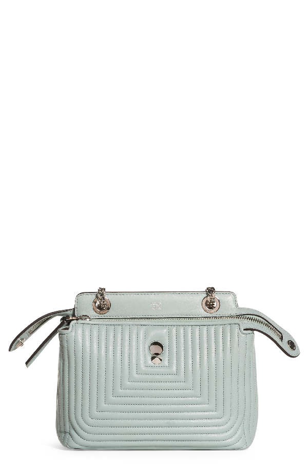 efff43f2cfc7 Fendi Dotcom Click Quilted Leather Satchel - Blue In Pale Blue ...