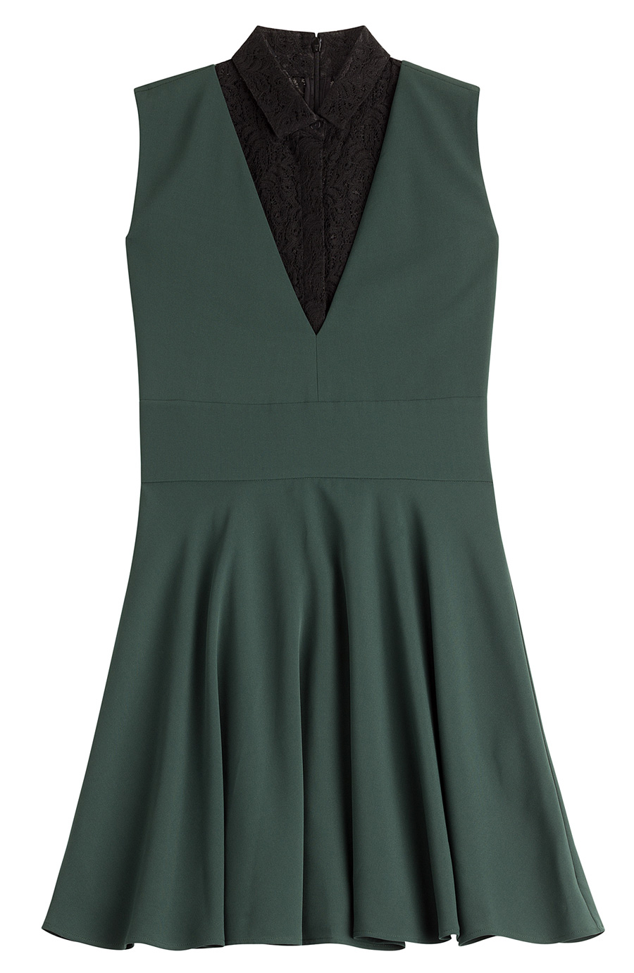 The Kooples Dress With Lace In Green