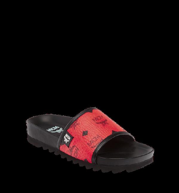 119274581 Mcm Men s Visetos Slide Sandals In Ru