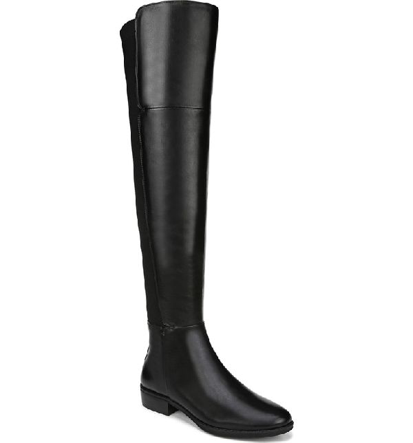 3c6bef6ec63 Sam Edelman Women s Pam Tall Leather Riding Boots In Black Leather ...
