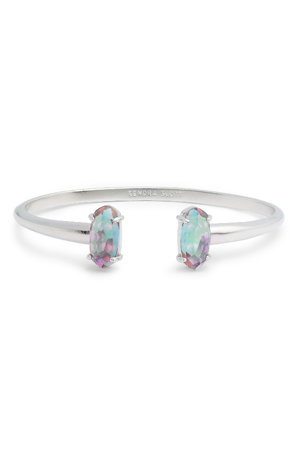 4ab314c842b Kendra Scott Edie Bracelet In Gray Dichroic Glass/ Silver | ModeSens