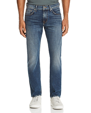 7 For All Mankind Straight Slim Fit Jeans In Democracy