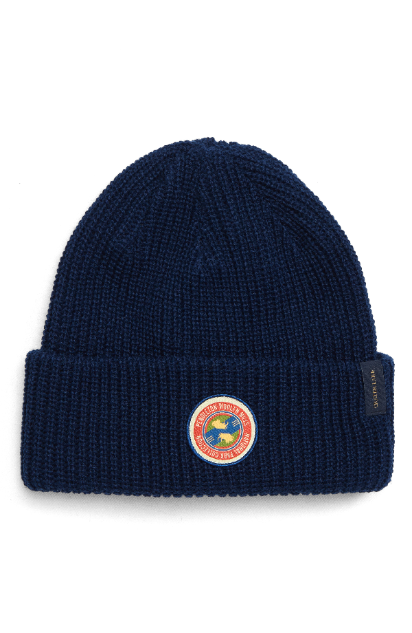 4b7657686f1014 Pendleton National Park Stripe Reversible Beanie - Blue In Crater Lake  Stripe