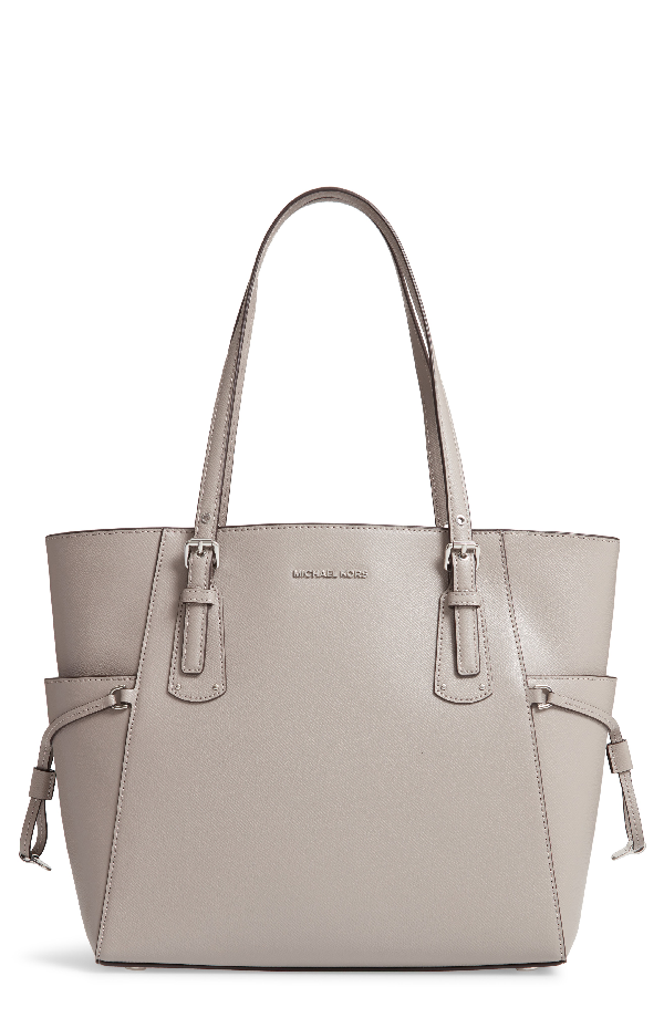 5f8b991e590e MICHAEL MICHAEL KORS. Voyager East West Leather Tote in Soft Pink/Gold