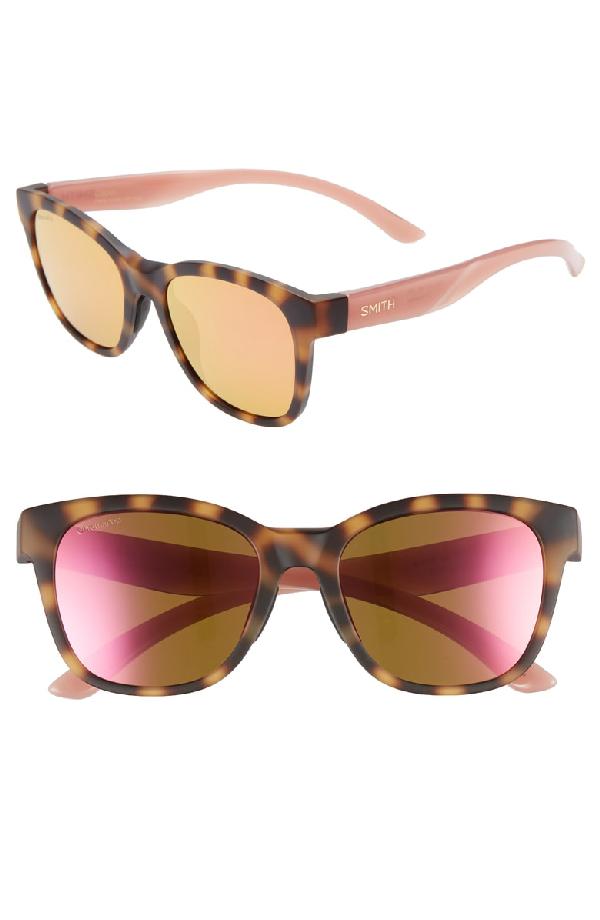 cfb11b7bdad35 Smith Caper 53Mm Chromapop(Tm) Square Sunglasses - Matte Honey Tort Pnk