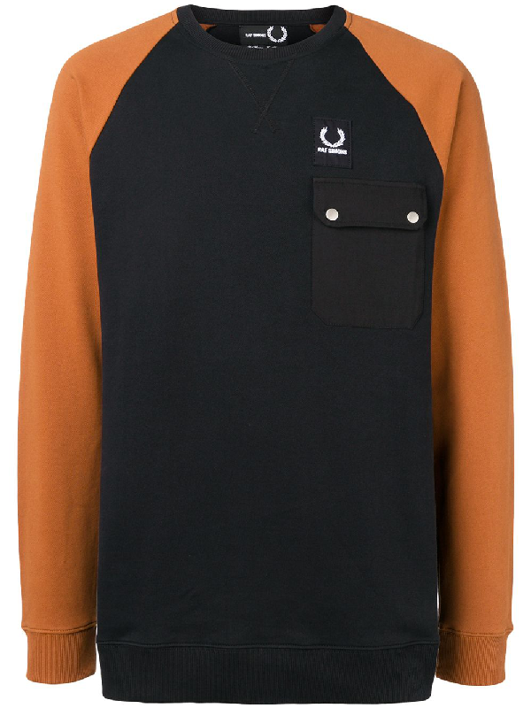 58c3200576b Fred Perry Raf Simons X Colour Block Sweatshirt - Black