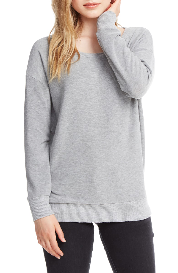 Chaser Raglan Pullover In Heather Grey