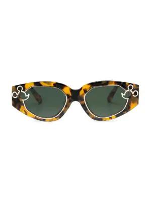 63d39a3b322bc Karen Walker X Disney Cast Of Two 52Mm Oval Sunglasses In Tortoise ...