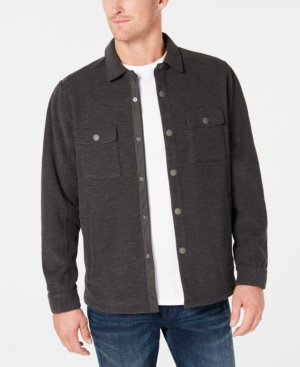 Tommy Bahama Men's San Pablo Shirt Jacket In Charcoal
