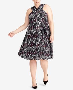 Rachel Rachel Roy Plus Size Letter-Print Dress, Created For Macy\'s ...
