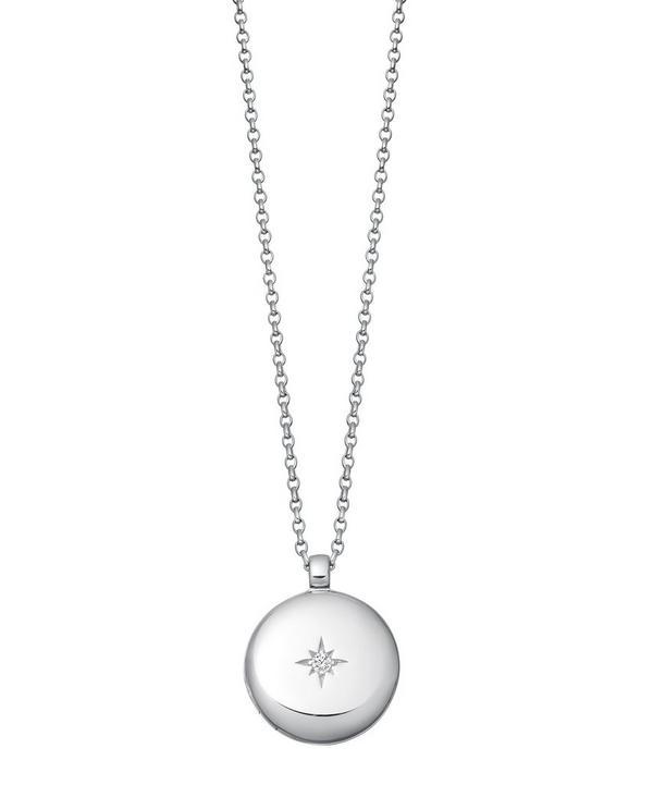 Astley Clarke Silver Contemporary Sapphire Medium Astley Locket Necklace