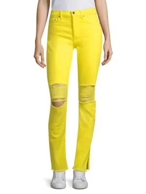 Cotton Citizen High-rise Skinny Jeans In Fuchsia