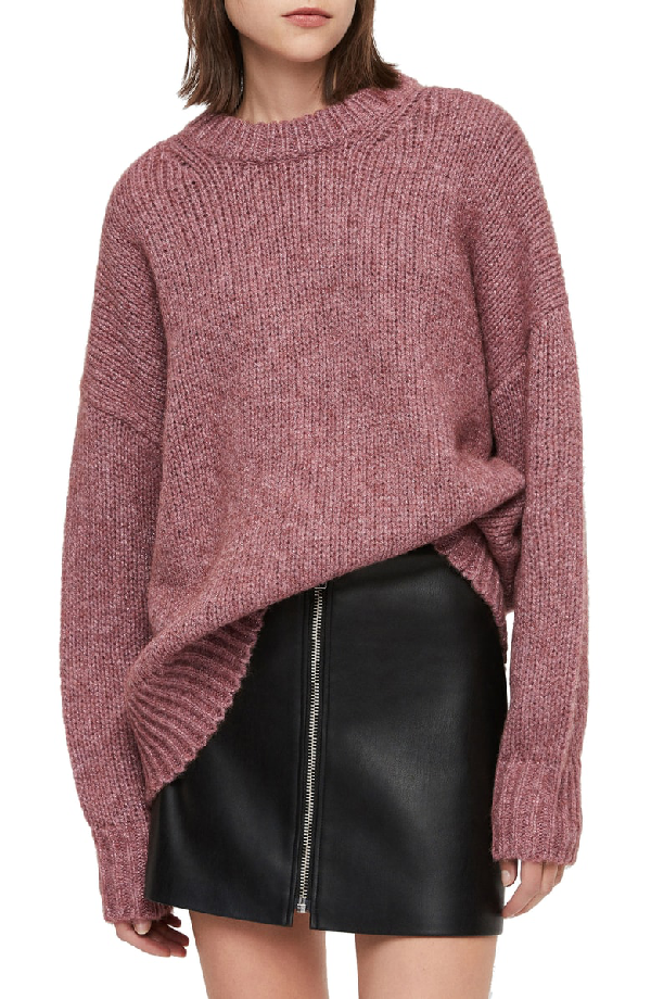 9aeeee0a5a0a Allsaints Gemini Metallic Knit Sweater In Pink Metallic   ModeSens