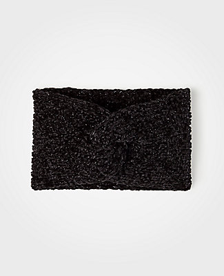 Ann Taylor Chenille Head Wrap In Black