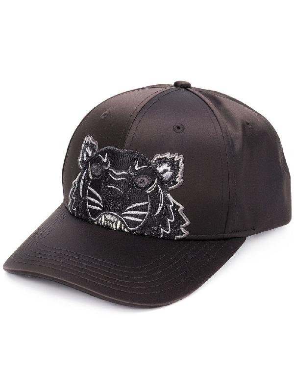 fc48780d Kenzo Satin Tiger Cap Holiday Capsule In Black