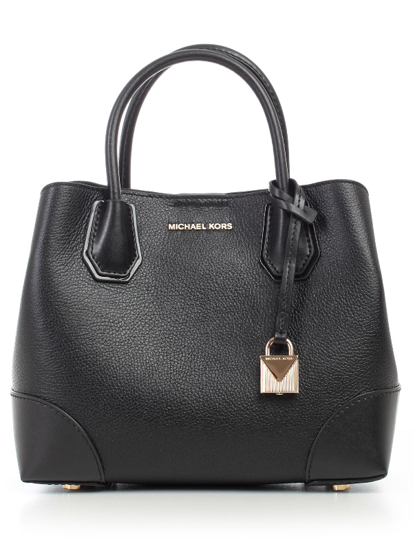 michael michael kors mercer gallery small tote in black. Black Bedroom Furniture Sets. Home Design Ideas