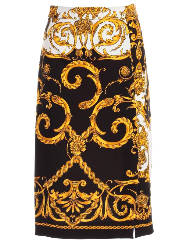 6f80ba7b Parosh P.A.R.O.S.H. Baroque Print Skirt In Fant Blk   ModeSens