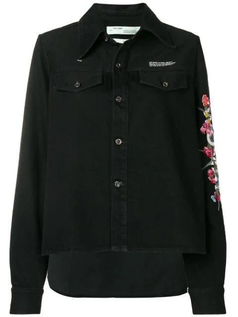 Off-White Off White Denim Jacket In Black