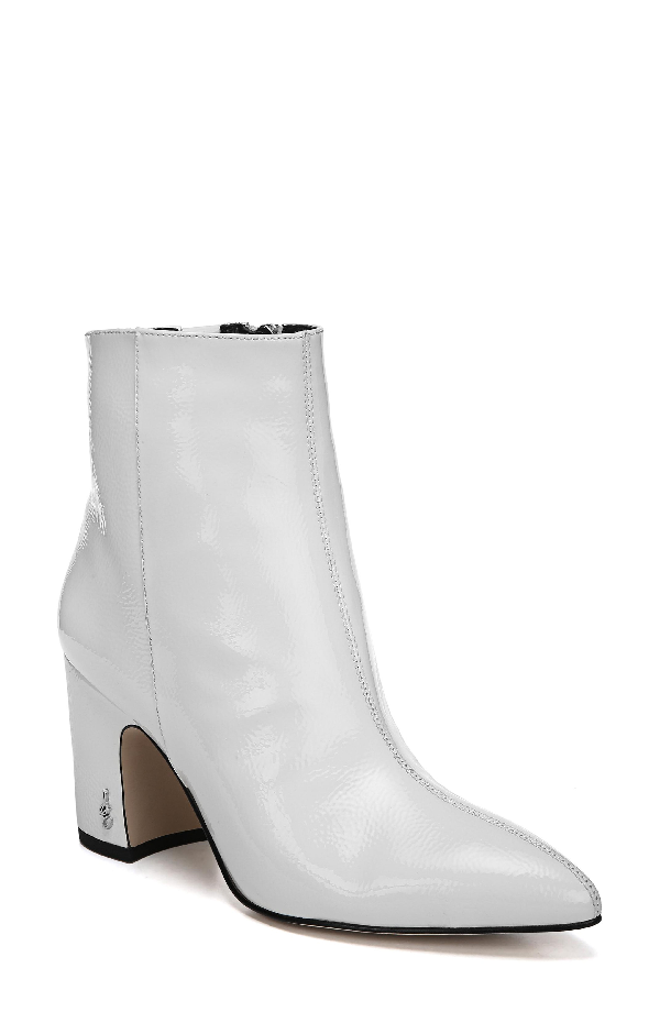 15027f11d2a72d Sam Edelman Hilty Ankle Boots In Bright White Patent Leather