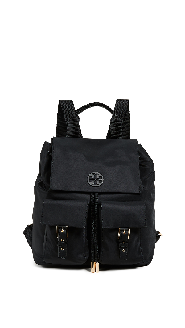 c00c02ec0df Tory Burch Tilda Nylon Flap Backpack In Black | ModeSens